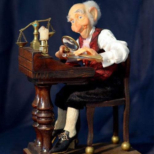 Авторская кукла Александра Бессарабова «Ювелир Изя из Одессы»