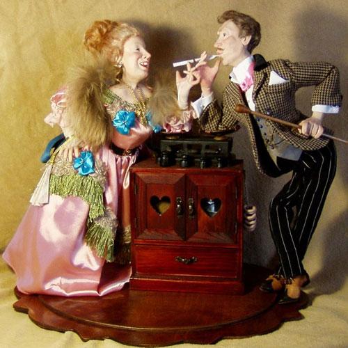 Авторская кукла Александра Бессарабова «За двумя зайцами»