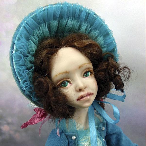 Кукла «Агата» создана в будуарной технике. Единственный экземпляр