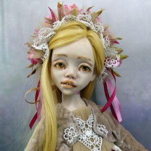 Кукла «Лика» создана в будуарной технике. Единственный экземпляр