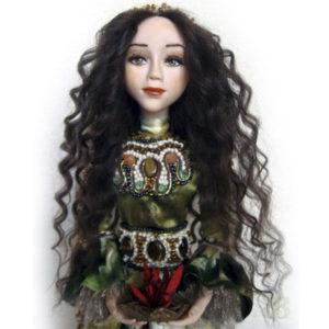Авторская художественная коллекционная кукла Римская (Греческая) богиня Веста
