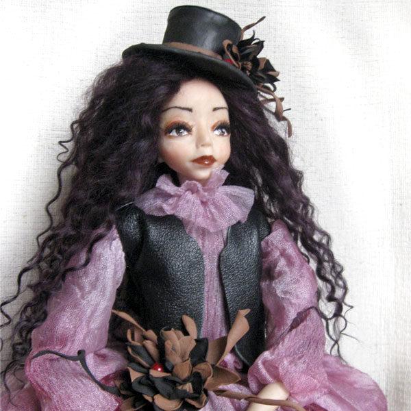 Авторская художественная будуарная кукла оригинальное украшение для дома